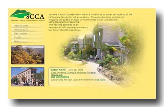 Sonoma County Conservbation Action web site